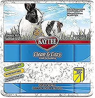 Kaytee Clean & Cozy Super Absorberend papieren beddengoed voor kooien, hamster, gerbil, muizen, konijn, cavia, 12,3 liter,...