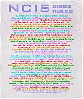 CafePress-NCIS Gibbs Rules-Soft Fleece Throw Blanket