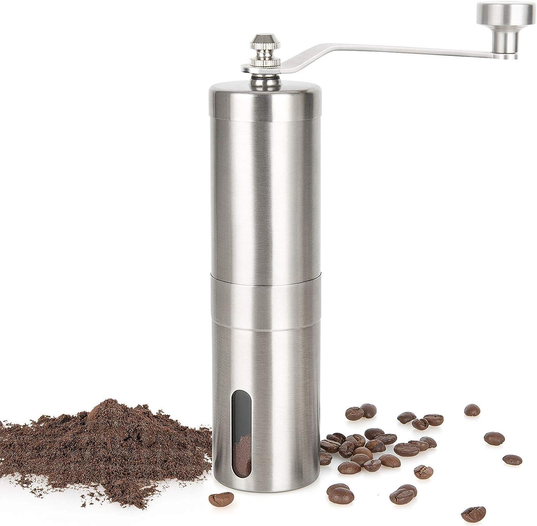 Gtonksye Manual Coffee Grinder Miami Mall with Brushe Adjustable Popular brand Coarseness