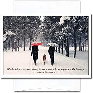 New Year Cards-Good Friends 10 Cards & Env Made in USA by CroninCards for Professional or Personal Use