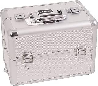 (3.2kg, Silver Dot) - Sunrise Del Gaffaro Heavy Duty Makeup Case Professional Nail Travel Organiser Box, Silver Dot, 3.2kg