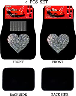 black and white car mats