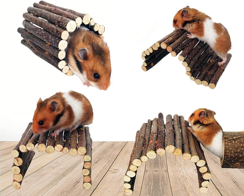 1 Genuine Pack Hamster Bridge Guinea Pig specialty shop Apple Ladder Nature Wood Roden