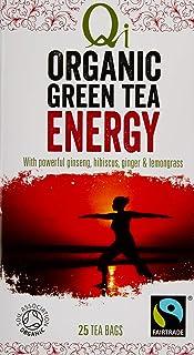 Qi Tea Organic Energy Green Tea Teabags, 25 Count