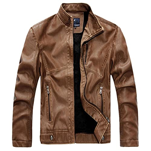 fd7a48043 Genuine Leather Jacket: Amazon.com