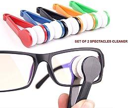 Garden Of Arts Mini Glasses Sunglasses Eyeglass Microfiber Spectacles Cleaner Brush Cleaning Tool(Set Of 2)