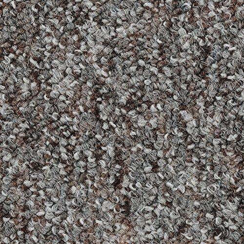 BODENMEISTER BM72269 Teppichboden Auslegware Meterware Schlinge meliert 200, 300, 400 und 500 cm Breit, verschiedene Längen, Variante:, Grau Braun, 3 x 2 M