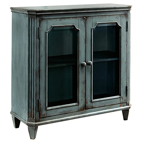 Walentin Accent Cabinet By Ashley Furniture: Distressed Wood Cabinet: Amazon.com