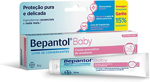 Bepantol Baby Creme Preventivo de Assaduras Para Bebês 30G, Bepantol Baby, 30G