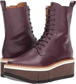 Aubergine Leather Calf