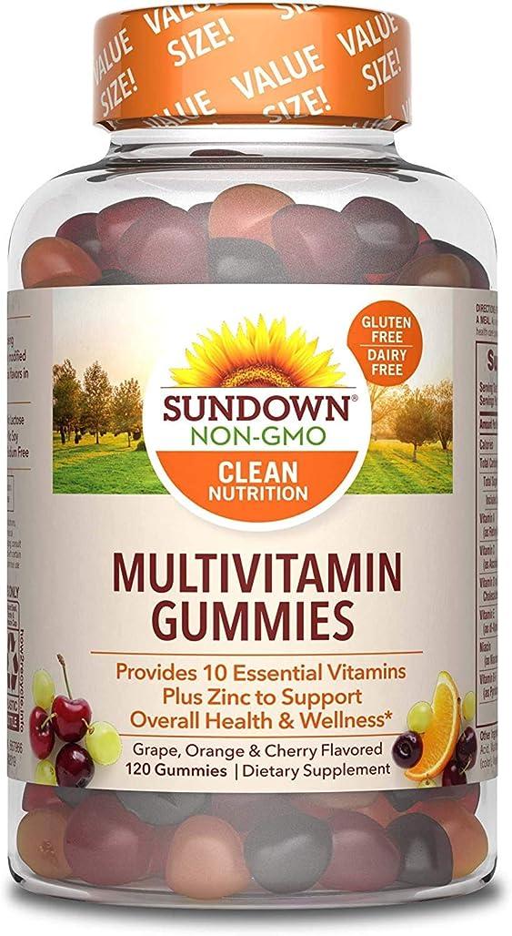 心臓まとめる麦芽Rexall Sundown Naturals, Multivitamin Formula, Adult Gummy, Orange, Cherry and Grape, 120 グミ入り x 2 pack【並行輸入品】cdf