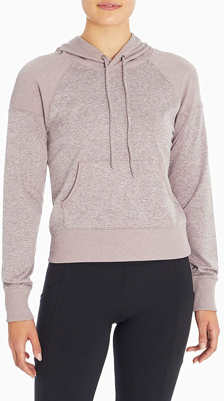 Jessica Simpson Sportswear Women's Cassie Pullover Crop Top Hoodie