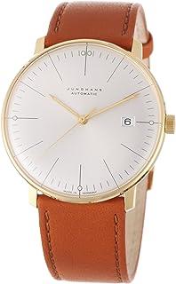 JUNGHANS - MAX Bill Automatik Gold 10 Mic Analog 027/7700.00 - Reloj de Caballero automático, Correa de Piel Color marrón