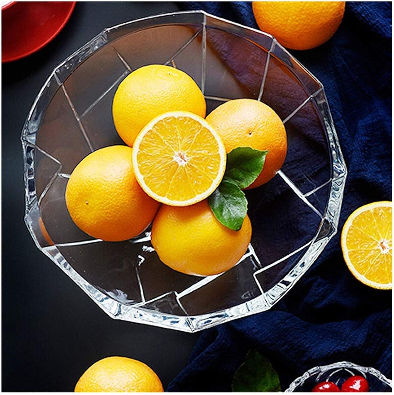 Panier à fruits Bols de fruits créatifs, panier en verre de grande capacité, stockage de porte-fruits européen simple décoration -0
