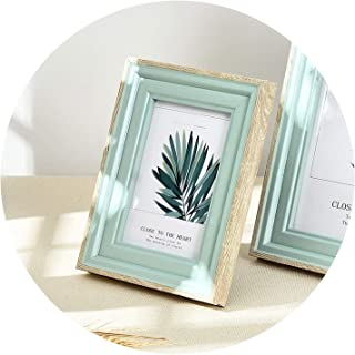 5 Sizes Rectangle Pictures Frames Resin Desk Table Decor Photo Frame with Transparent Organic Glass Wedding Family Photo Frames,Dian Bud Alice Lily,7 inch