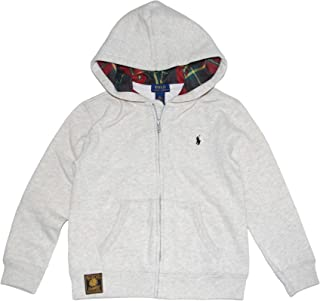 RALPH LAUREN Polo Boys Classic Plaid Lined Hoodie Full Zip Jacket (6)