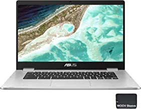 "ASUS 15.6"" C523NA Chromebook - Intel Celeron N3350 - 1080p Model C523NA-IH44F, 4GB DDR4 RAM, 64GB eMMC, Bundle with Woov A..."