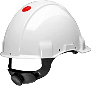 3 M g3001muv1000 V-vi helm G3001, zonder ventilatie, diëlektricum 1000 V, wit, met Lifebelt roulette en zweetband leer
