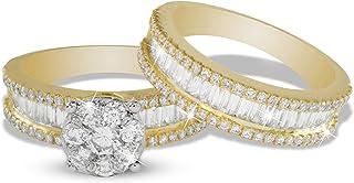 AL Liali Jewellery Women's Love Band Rings, 7 US, 2.1 Carat, Yellow