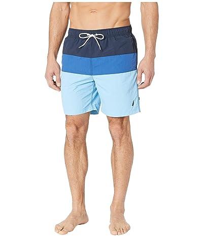 Nautica Tri-Block Swim Trunk (Alaskian Blue) Men