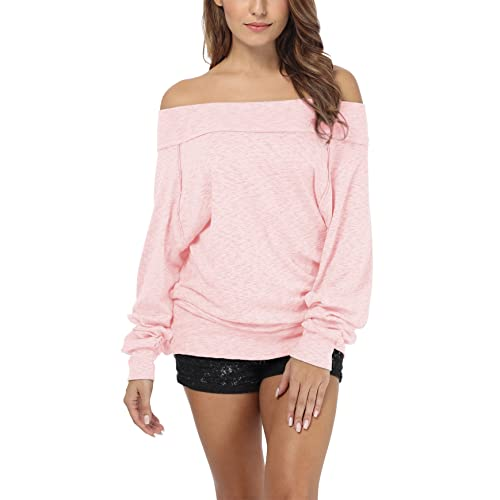 41cb87dacb1b iGENJUN Women s Dolman Sleeve Off The Shoulder Sweater Shirt Tops