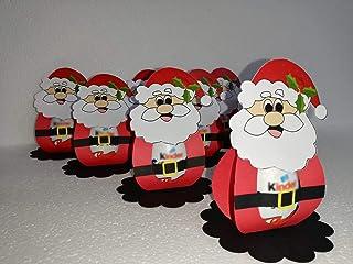 Porta Ovetto Kinder con Babbo Natale in cartoncino HandMade 12,5cm in confezione da 10pz (non include l'uovo)