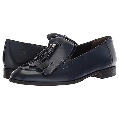 Paul Green Tam Flat (Navy Leather) Women