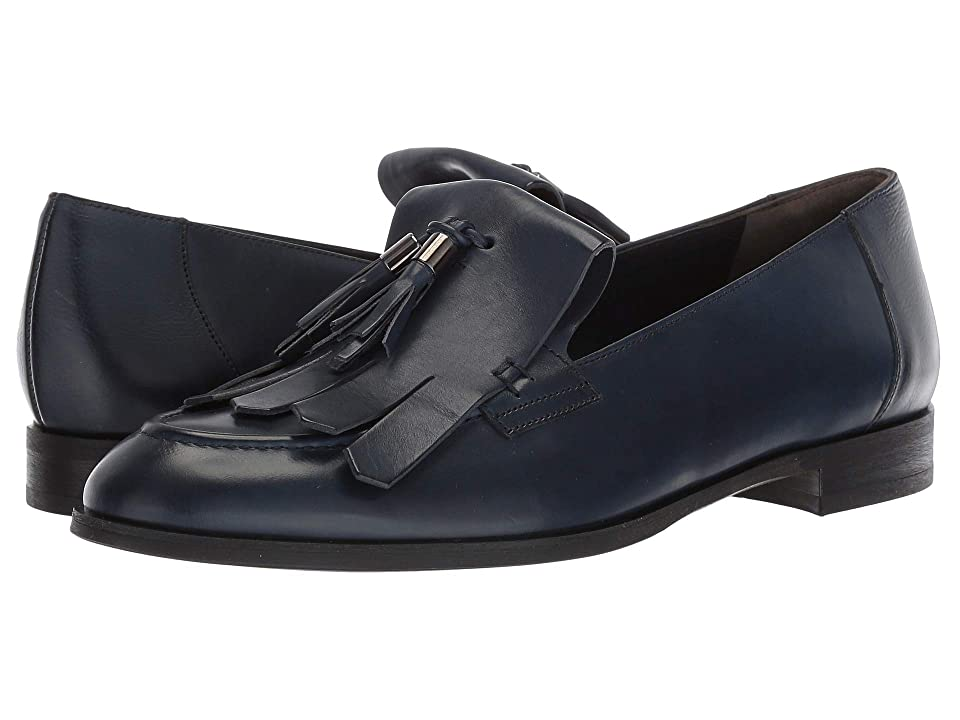 Paul Green Tam Flat (Navy Leather) Women