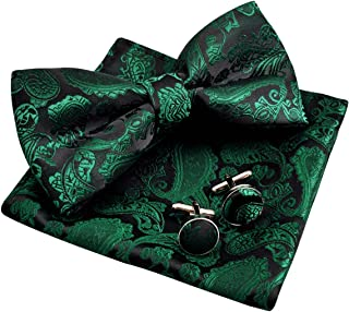 Best Mens Classic Paisley Bow Tie, Hanky and Cufflinks Set Review