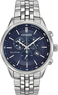 Citizen Eco-Drive Corso Quartz Mens Watch, Stainless Steel, Classic, Silver-Tone (Model: AT2141-52L)