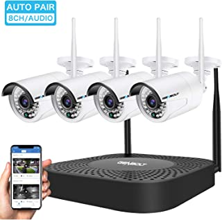 Wireless Security Camera System, GENBOLT Outdoor 1080P Home WiFi Security Surveillance Camera System, 8 Channels Full HD 1...