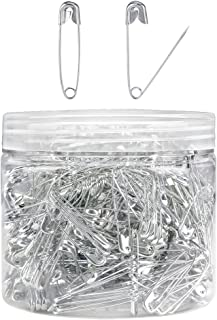 Pllieay 504 Pieces Safety Pins Child Safety Pin Baby Safety Pins for Fabric Diapers, Garment Repair and Quilting, Size 2 (1.5 x 0.2 Inches)