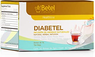 Diabetel Tea by Betel Natural - Natural Support for Healthy Glucose Levels - 30 Tea Bags