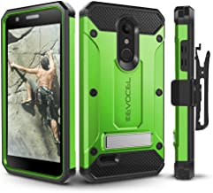 LG K30 / LG Premier Pro/LG Harmony 2 Case, Evocel Heavy Duty Protection with Glass Screen Protector, Rugged Holster, and Kickstand, Explorer Series Pro – Green