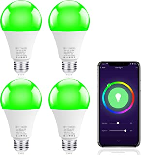 Smart WiFi LED Light Bulb, BESTINNKIT Warm White & Cool White & Color Changing Light Bulb A19 60W Equivalent Dimmable LED Smart Bulb Compatible with Alexa and Google Assistant,No Hub Required (4 pack)