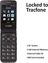 Tracfone Carrier-Locked Alcatel MyFlip 4G Prepaid Flip Phone- Black – 4GB –..