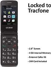 Tracfone Carrier-Locked Alcatel MyFlip 4G Prepaid Flip Phone- Black – 4GB –..