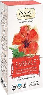 Numi Organic Tea Hibiscus, 16 Count Box of Tea Bags, Holistic Herbal Teasan (Packaging May Vary)
