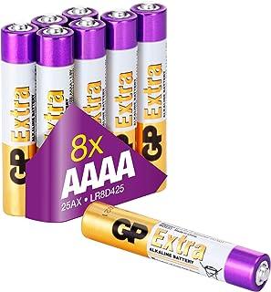 AAAA Batteri - LR61-8-Pack |-| GP Extra |+| Alkaliskt batteri LR61 1.5V - Lång livslängd