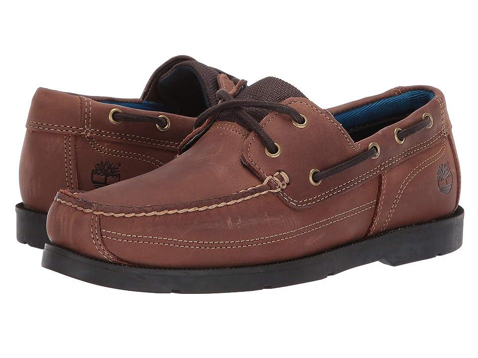 Timberland Piper Cove Leather Boat Shoe (Medium Brown Full Grain) Men