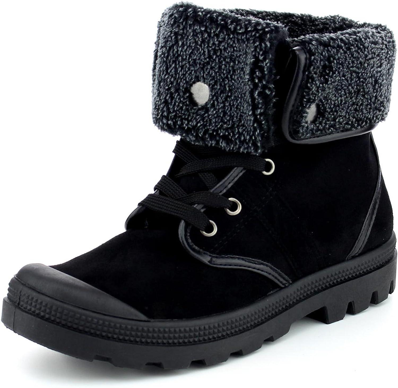 Refresh Footwear Women's Faux Shearling Fold Down Warm Winter Boot