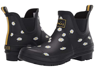Joules Wellibob Chelsea Boot (Black Daisy) Women