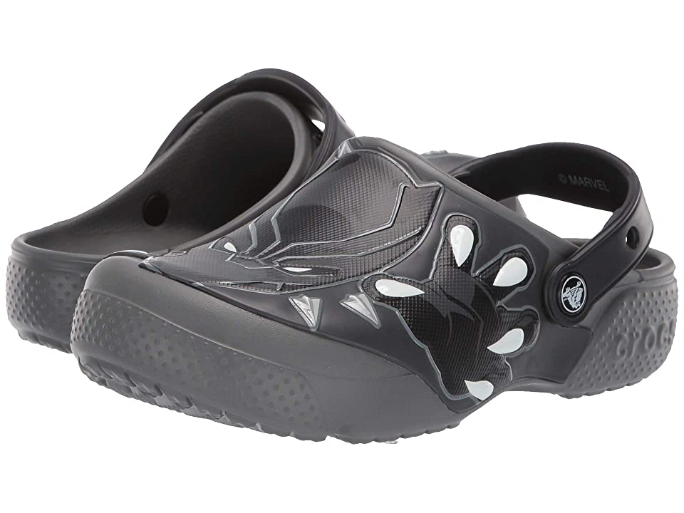 Crocs Kids CrocsFunLab Black Panther Clog (Toddler/Little Kid) (Slate Grey) Boys Shoes