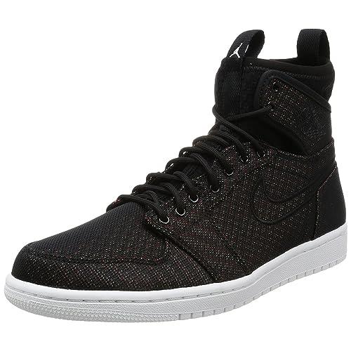 49b6837e935c27 Jordan Nike Men s Air 1 Retro Ultra High Blk Ghst Grn Bl Lgn
