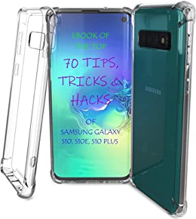 S10E Case Clear - S10E Clear Case with Hacks E-Book, Clear S10E Case TPU Soft Sides Tough Back Protective Heavy Duty Phone Case by TAHVO (Renewed)