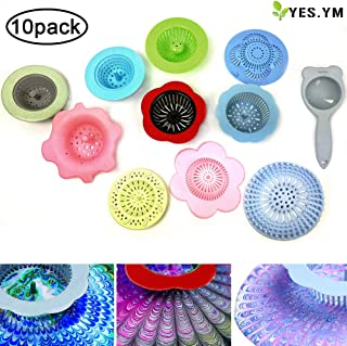 YES.YM 10 Pieces Acrylic Paint Pouring Strainers, Plastic Flower Strainers, Silicone Pouring Drain for DIY Pouring Acrylic Paint and Creating Unique Patterns(10 Pack)