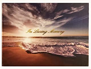 LifeToo (Formerly DTGG) Memorial Guest-Registry Book - Hardcover :in Loving Memory | Spine: A Celebration of Life Ocean Sunset Hardcover Book (Hardcover Book Only)