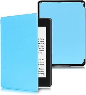 Capa Kindle Paperwhite 10ª geração à prova d'água - Função Liga/Desliga - Fechamento magnético - Cores (Azul Claro)