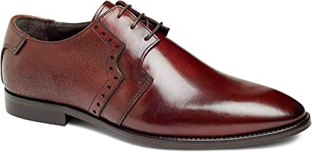 Anthony Veer Downey Men's Oxford Lace-up Dress Shoes in Premium Italian Leather