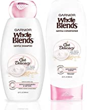 Garnier Hair Care Whole Blends Oat Delicacy, Moisturizing Shampoo and Conditioner With Oat Milk and Rice Cream Extracts, F...